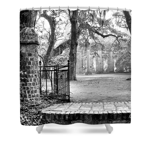 The Gates Of The Old Sheldon Church Shower Curtain