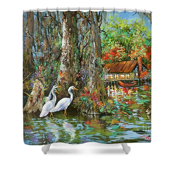 The Gathering - Louisiana Swamp Life Shower Curtain