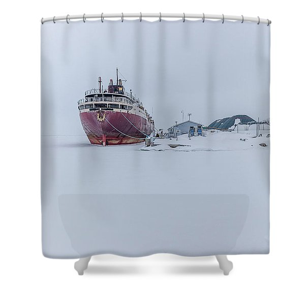 The Ghost Of American Fortitude Shower Curtain