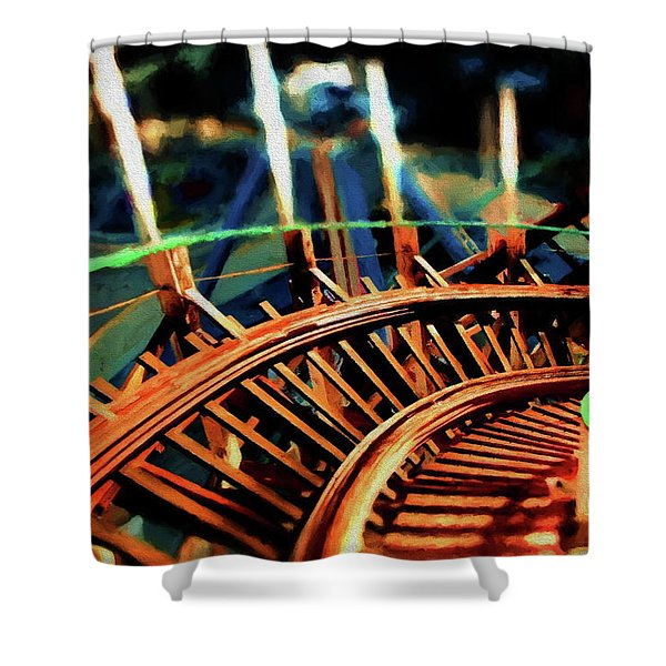 The Giant Dipper Shower Curtain