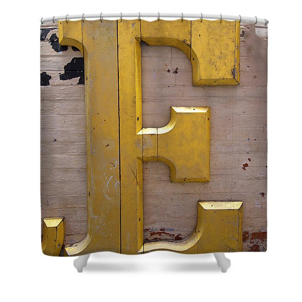 The Gilded E Shower Curtain