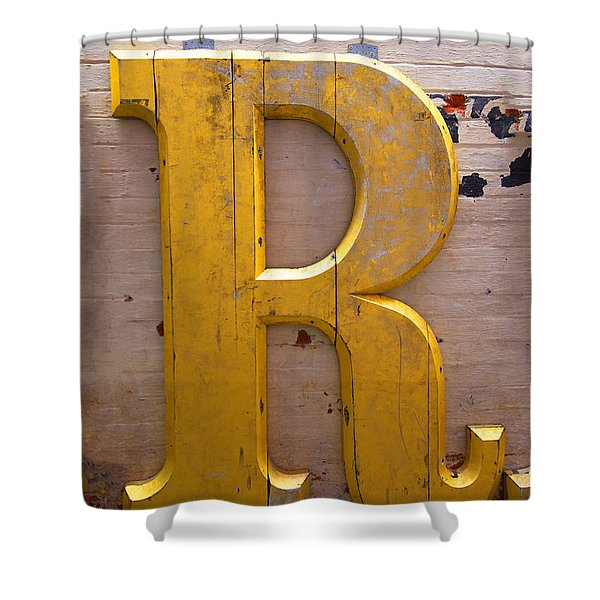The Gilded R Shower Curtain