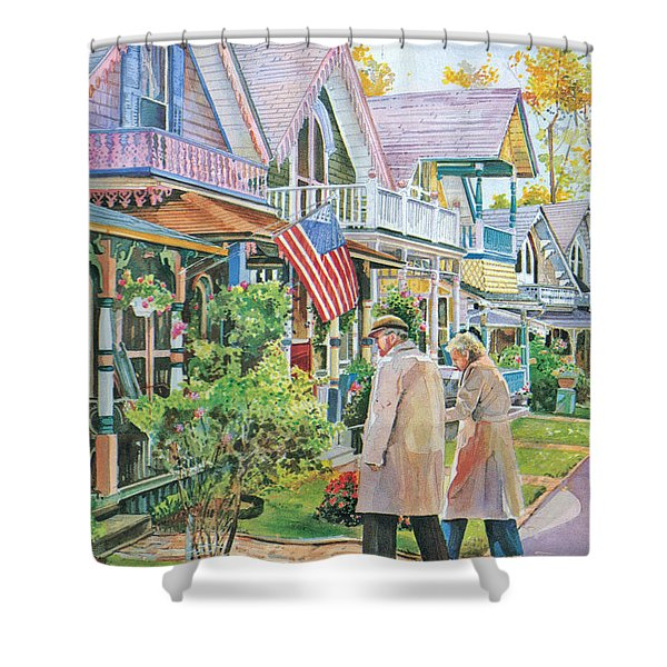 The Gingerbread Cottages Shower Curtain