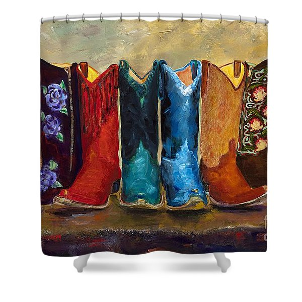 The Girls Are Back In Town Shower Curtain