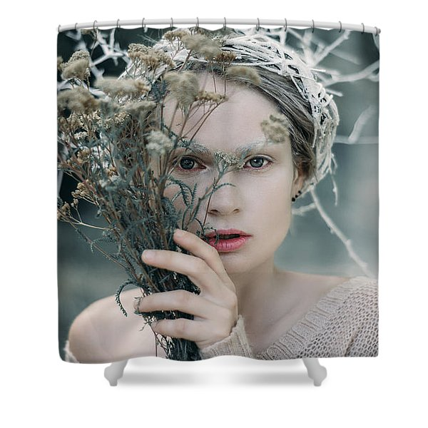 The Glance. Prickle Tenderness Shower Curtain