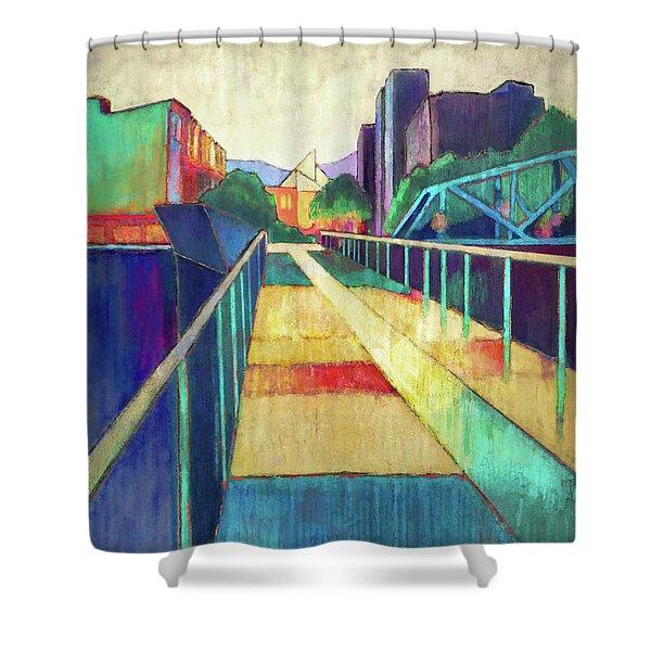 The Glass Bridge Shower Curtain