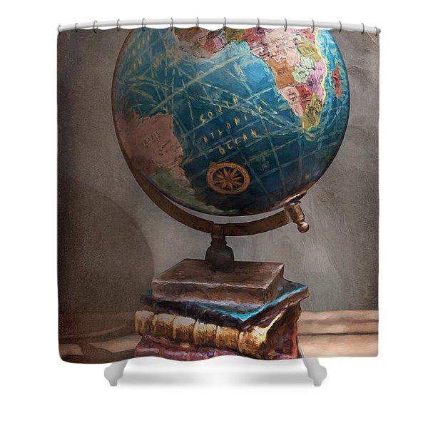 The Globe Shower Curtain