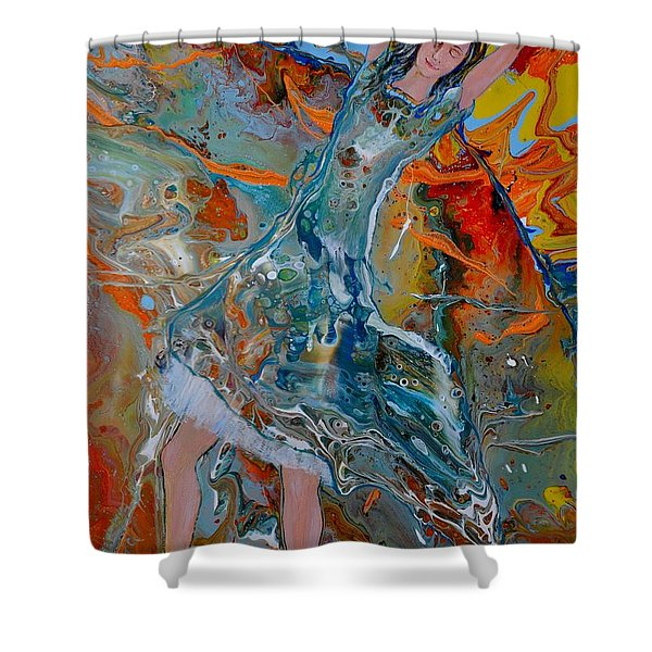 Shower Curtain featuring the painting The Glory Of The Lord by Deborah Nell