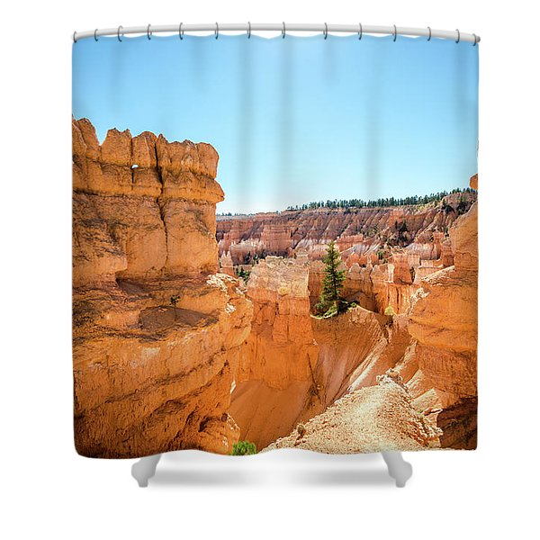 The Glowing Canyon Shower Curtain