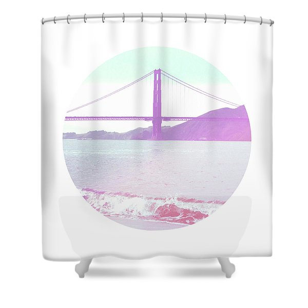 The Golden Gate- Art By Linda Woods Shower Curtain