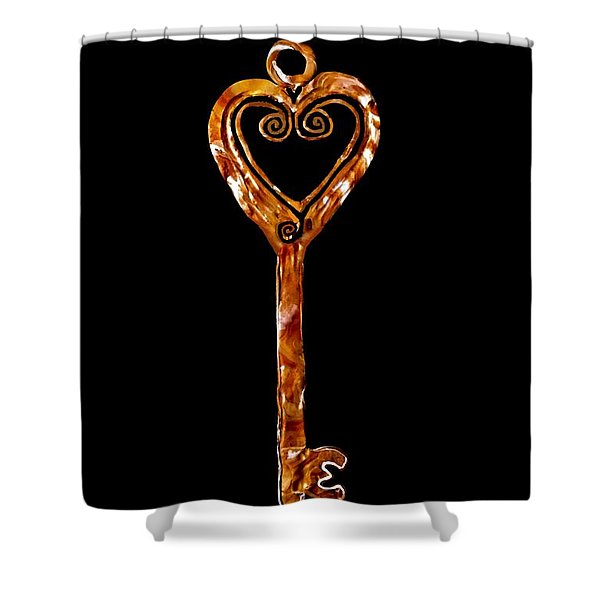 The Golden Key Shower Curtain