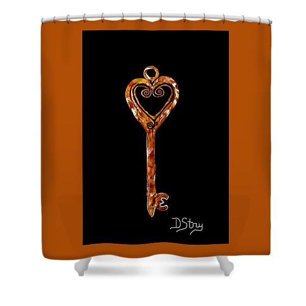 The Golden Key Shower Curtain