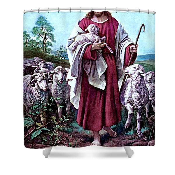 The Good Shepherd 1878 Bernhard Plockhorst Shower Curtain