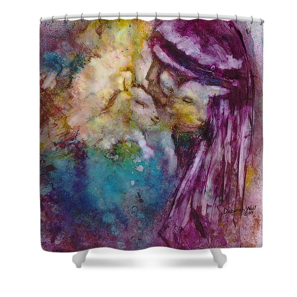 Shower Curtain featuring the painting The Good Shepherd by Deborah Nell