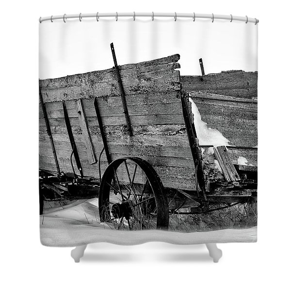 The Grain Wagon Shower Curtain