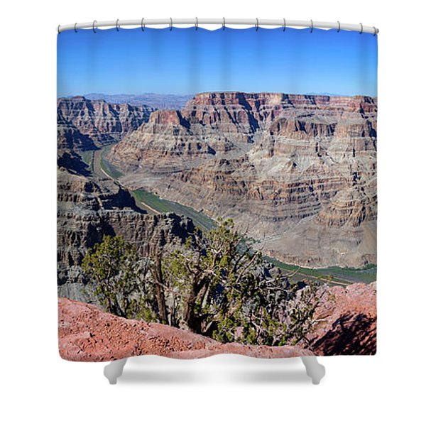 The Grand Canyon Panorama Shower Curtain