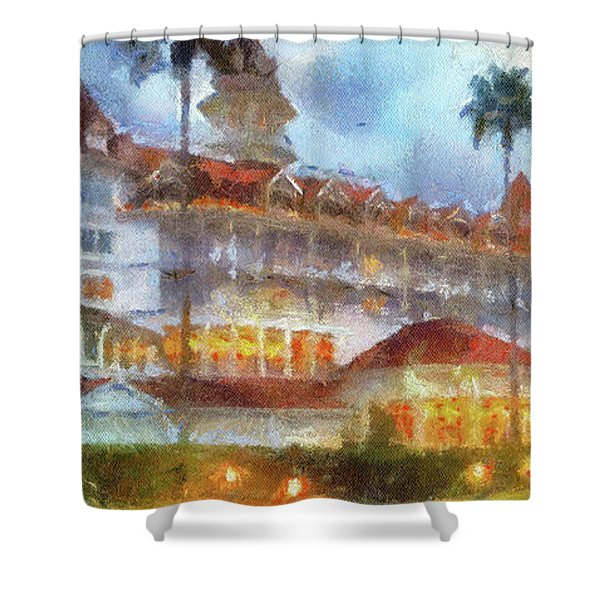 The Grand Floridian Resort Wdw 01 Photo Art Mp Shower Curtain