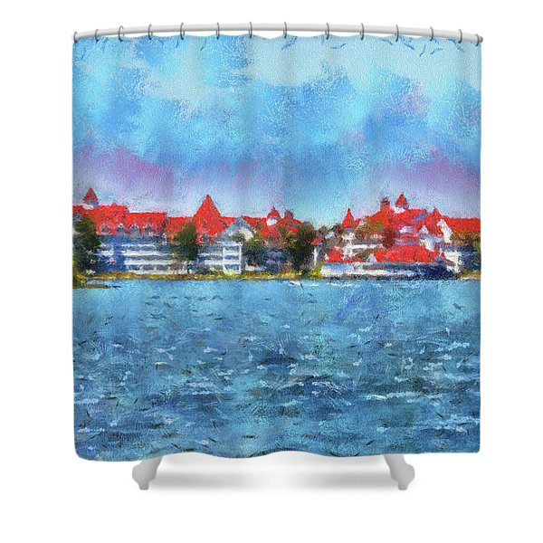 The Grand Floridian Resort Wdw 03 Photo Art Mp Shower Curtain