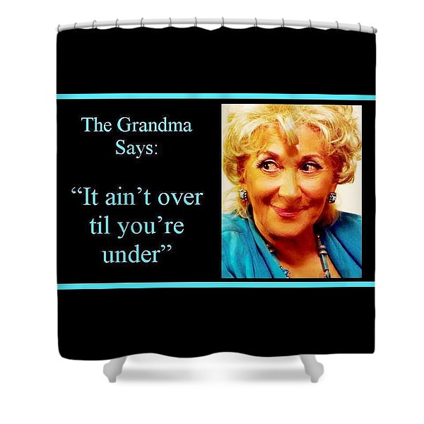 The Grandma Over And Under Shower Curtain
