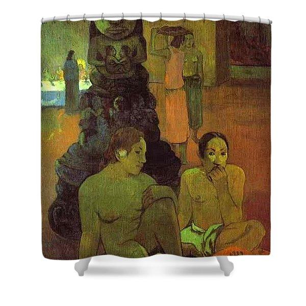 The Great Buddha Paul Gauguin Shower Curtain