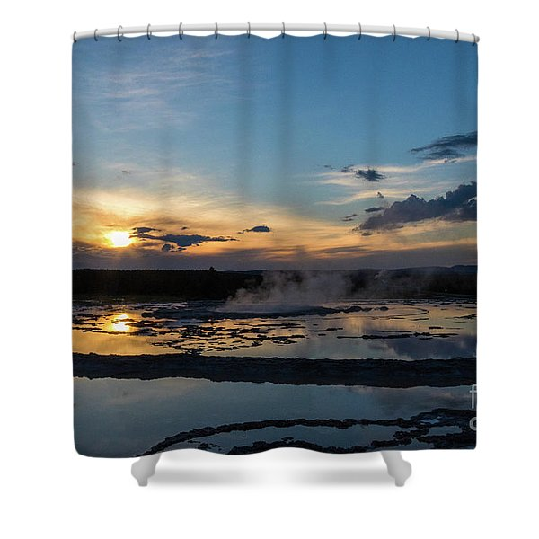 The Great Fountain Geyser Shower Curtain