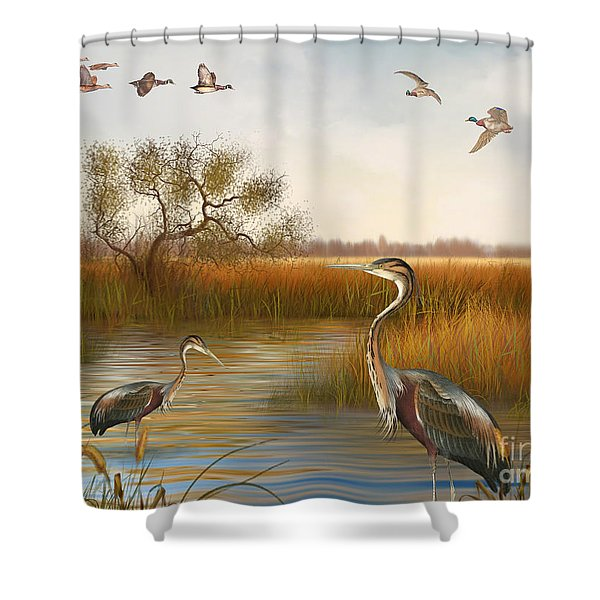 The Great Marsh-jp2860 Shower Curtain