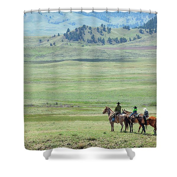 The Great Montana Expanse Shower Curtain
