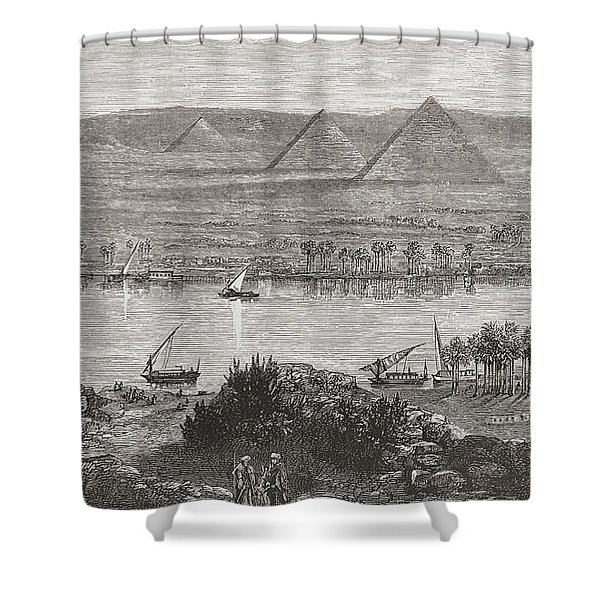 The Great Pyramids Of Giza, Egypt From Shower Curtain