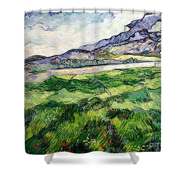 The Green Wheatfield Behind The Asylum Shower Curtain