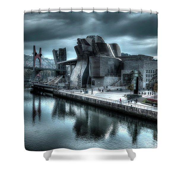The Guggenheim Museum Bilbao Surreal Shower Curtain