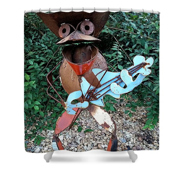 The Guitar Man Shower Curtain