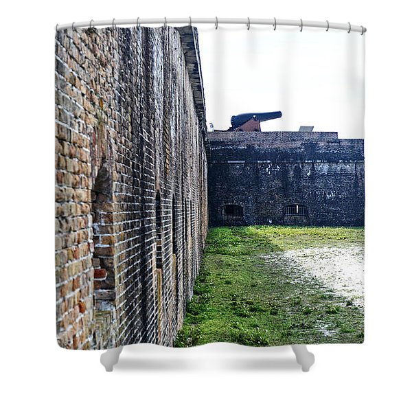 The Guns Of Ft. Pickens Shower Curtain