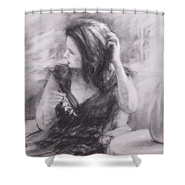 The Hairpin Shower Curtain