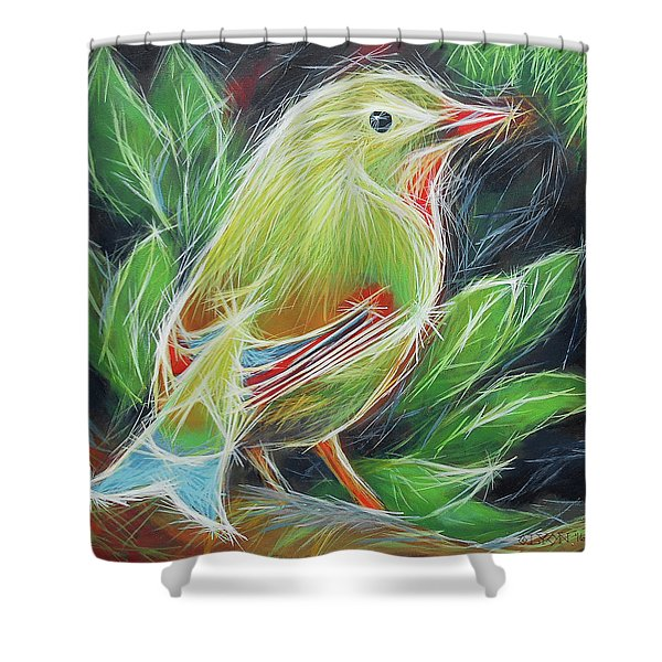 The Happiness Of Green Shower Curtain