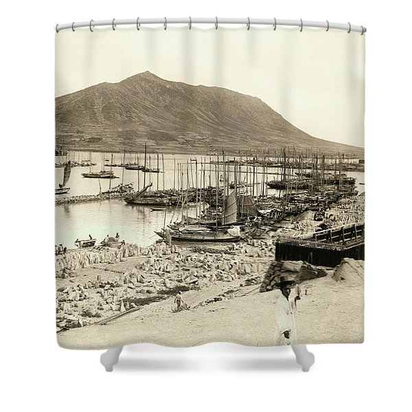 The Harbor In Fusan, Korea Shower Curtain