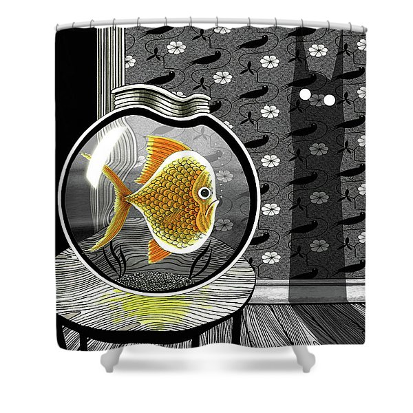 The Haunted Goldfish Bowl  Shower Curtain