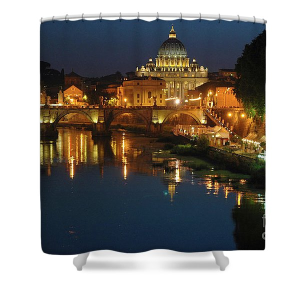 Shower Curtain featuring the photograph Eternal Sound Of Rome by Silva Wischeropp