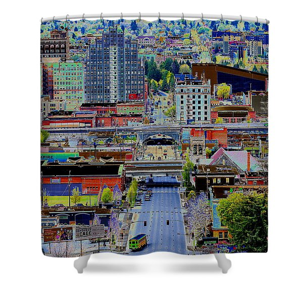 The Heart Of Downtown Spokane  Shower Curtain