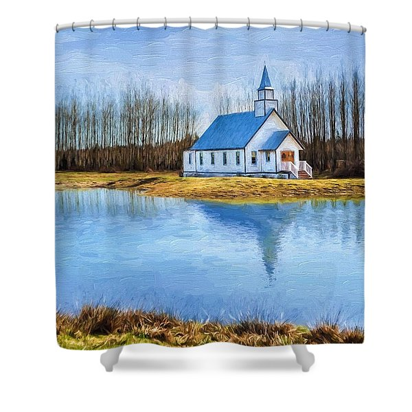 The Heart Of It All - Landscape Art Shower Curtain
