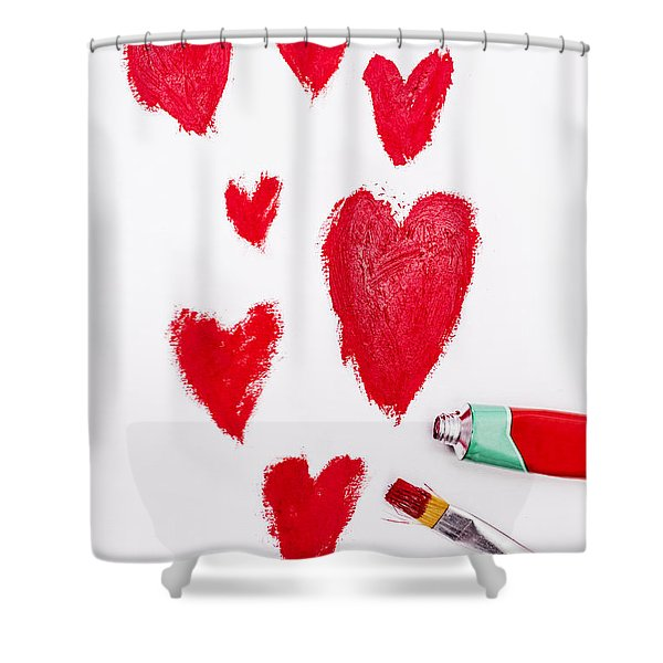 The Heart Of Love Shower Curtain