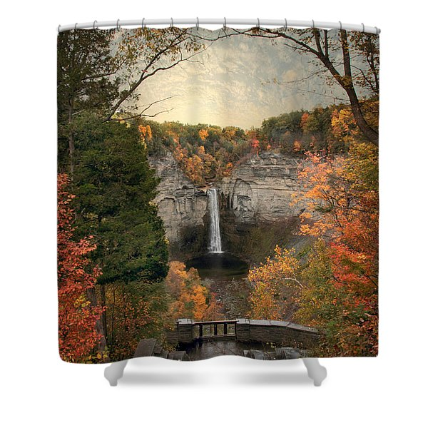 The Heart Of Taughannock Shower Curtain