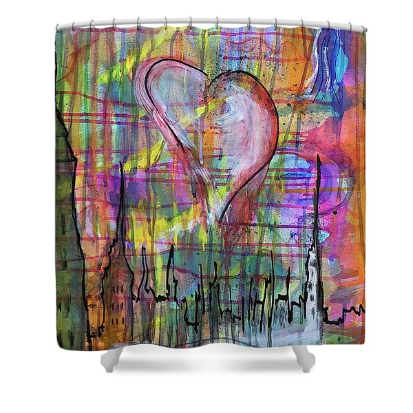 The Heart Of The City Shower Curtain