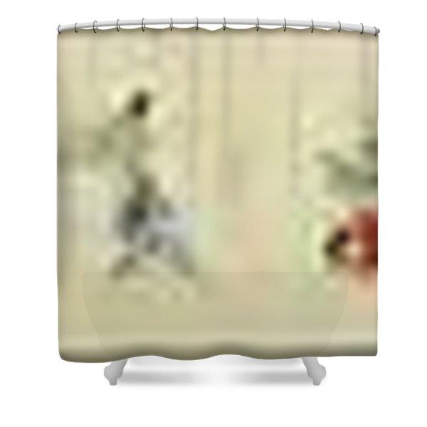 The Hegassen Scroll Shower Curtain
