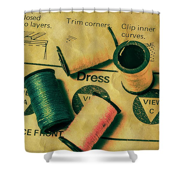 The Heritage Threading Guide Shower Curtain