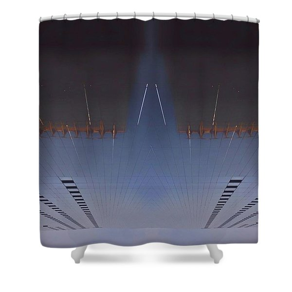 •the Heron On Moor Shower Curtain