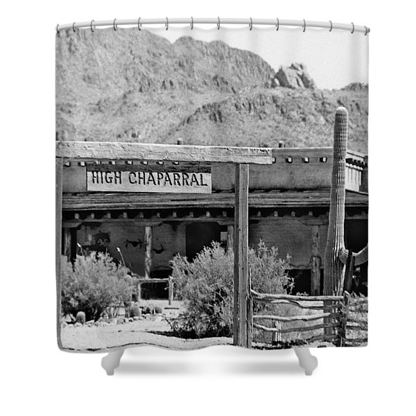 The High Chaparral Set With Sign Old Tucson Arizona 1969-2016 Shower Curtain
