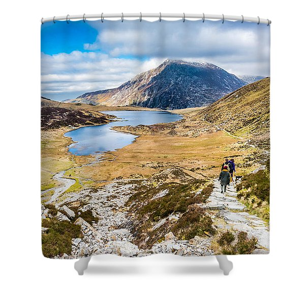 Shower Curtain featuring the photograph The Hike Back Down by Nick Bywater
