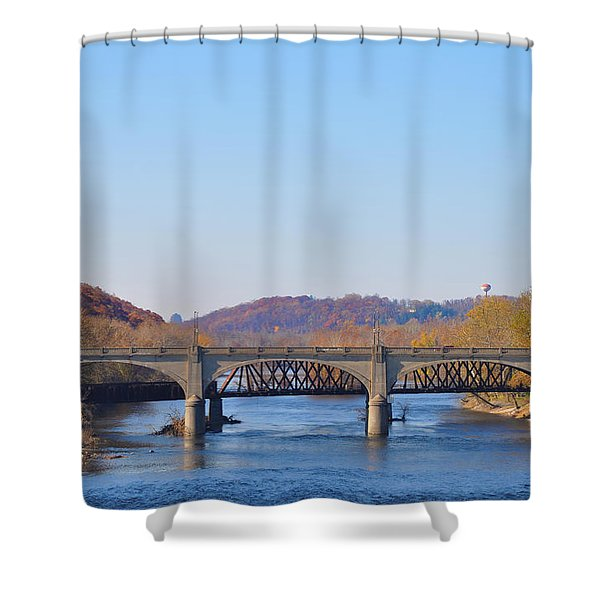 The Hill To Hill Bridge - Bethlehem Pa Shower Curtain