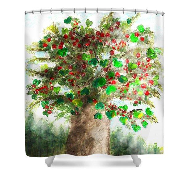 The Holy Oak Tree Shower Curtain