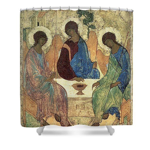 The Holy Trinity Shower Curtain